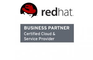 Logo Red Hat business partner Certified Cloud & Service Provider